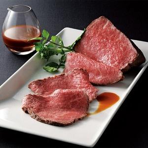 黒毛和牛のもも肉を塩・胡椒で味付けし、丁寧に焼きあげました。【ローストビーフ詰合せ】