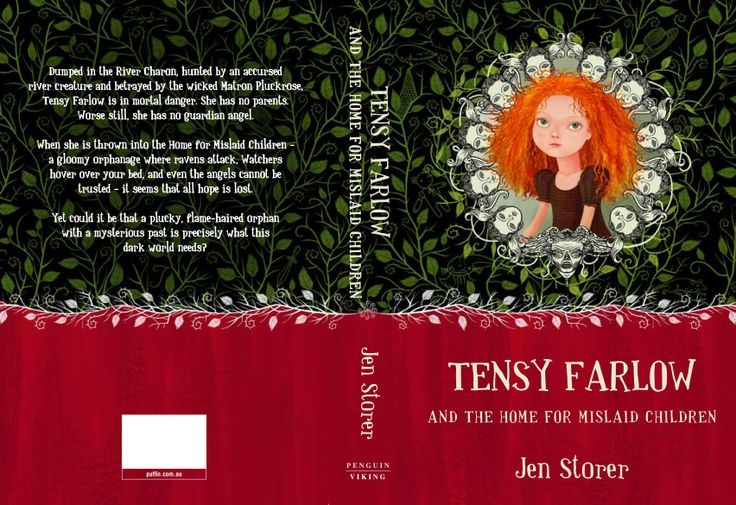 Hardback cover art. From Tensy Farlow and the Home for Mislaid Children. Written by Jen Storer. Cover art by Sonia Kretschmar. Penguin Books.