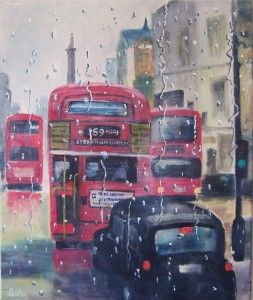 Sunshine-and-rain-towards-Trafalgar-Square by Rod Bere