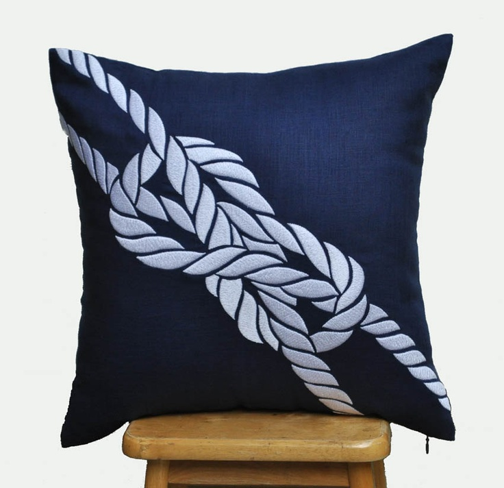 White Knots Throw Pillow Cover-18