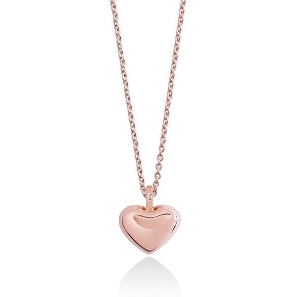 The True Heart Necklace rose gold ❤ liked on Polyvore featuring jewelry, necklaces, heart shaped necklace, pink gold necklace, rose gold jewellery, pink gold jewelry and heart jewelry