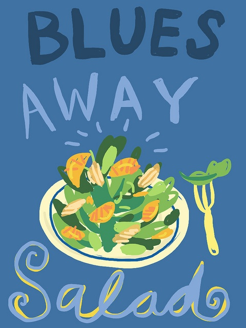 Blues Away Salad by Lobstersquad, via Flickr