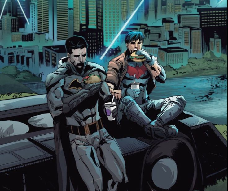 This moment is etched in my mind forever. Jason and Bruce having some dad-son bonding time