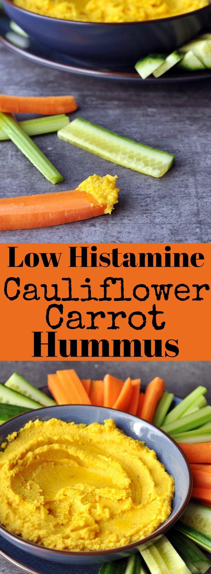 Low Histamine Cauliflower Carrot Hummus - Bean Free!