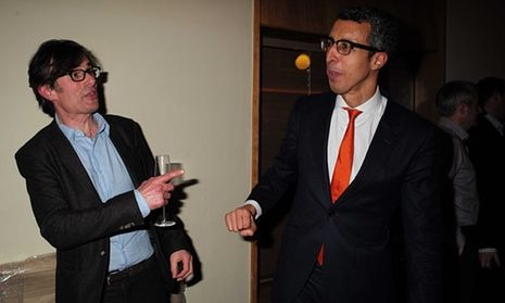Kamal Ahmed, right, has taken over Robert Peston's role as BBC economics editor
