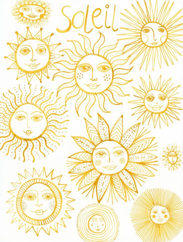 Klika Design: Creativebug Drawing Challenge with Lisa Congdon Day 29: sun