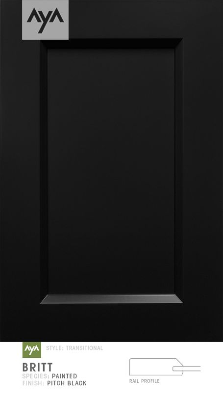 Britt Transitional Transitional Painted Pitch Black | AyA Kitchens | Canadian Kitchen and Bath Cabinetry Manufacturer | Kitchen Design Professionals