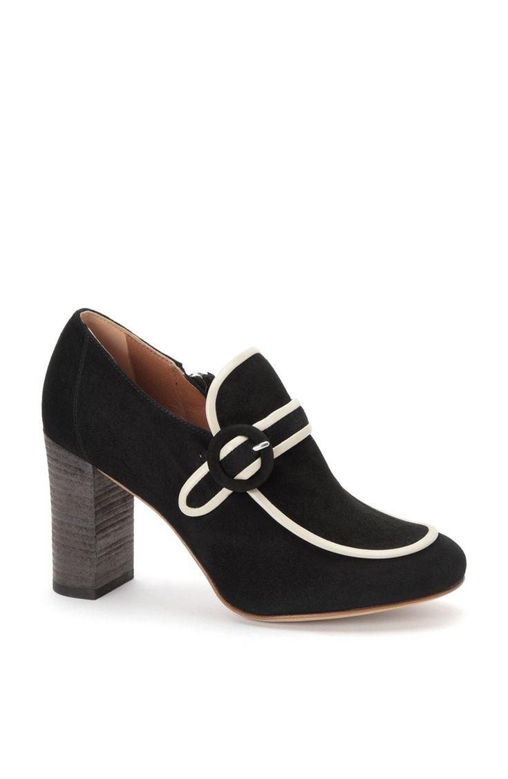 DEREK LAM Doris High Heel Loafer - Black-Ice. #dereklam #shoes #all