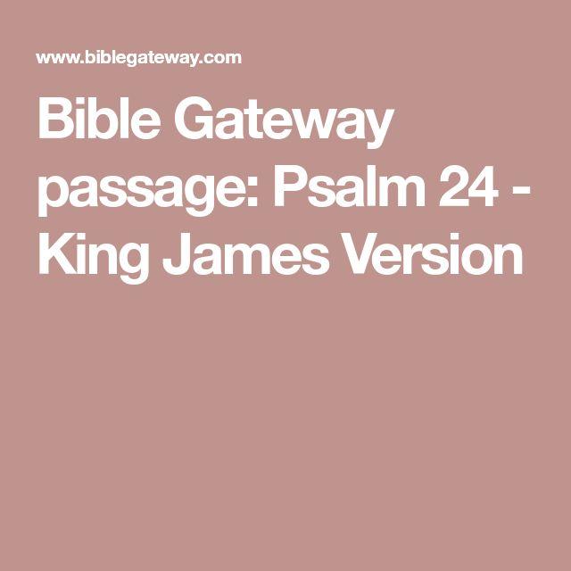 Bible Gateway passage: Psalm 24 - King James Version