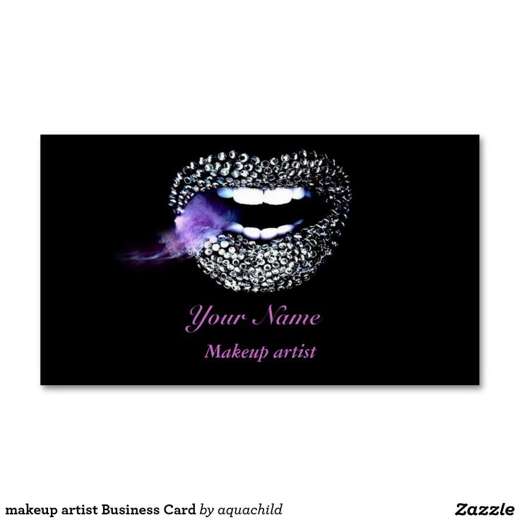 177 best Customized Makeup artist Business cards images on ...