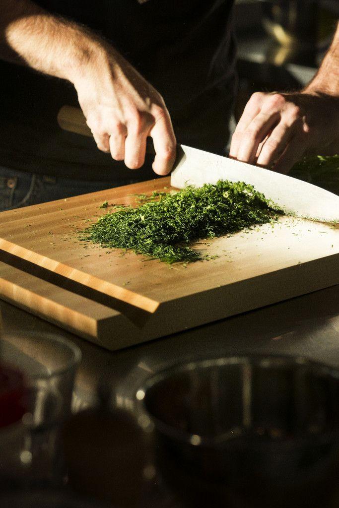 """Planche à découper en bois - Wooden cutting board (10"""" X 14"""")"""