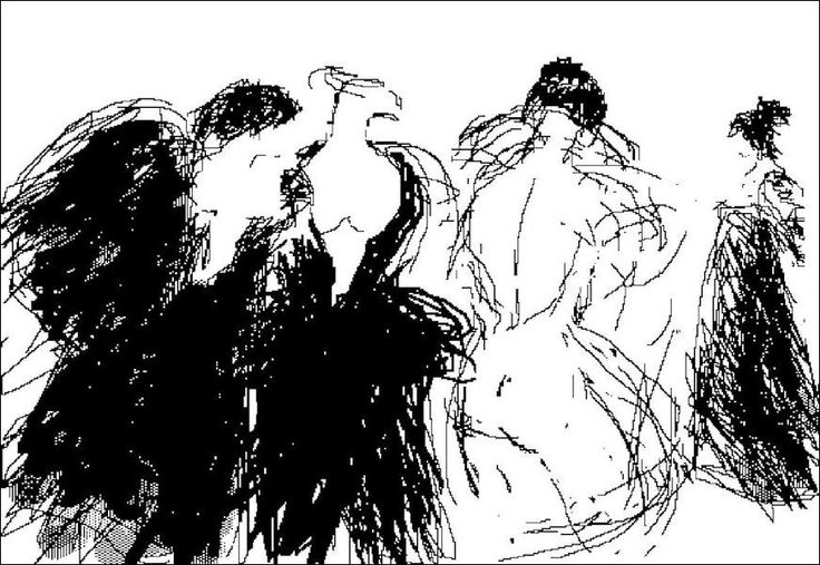"""H e n n i n g H o l m N i e l s e n. PC-drawing. CARNIVAL.  """"The Gossip Sisters"""""""