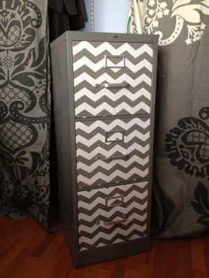 filing cabinet makeover with contact paper