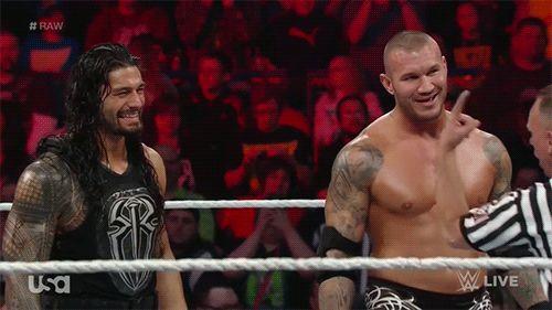 Randy Orton and Roman Reigns #WWE #GIF