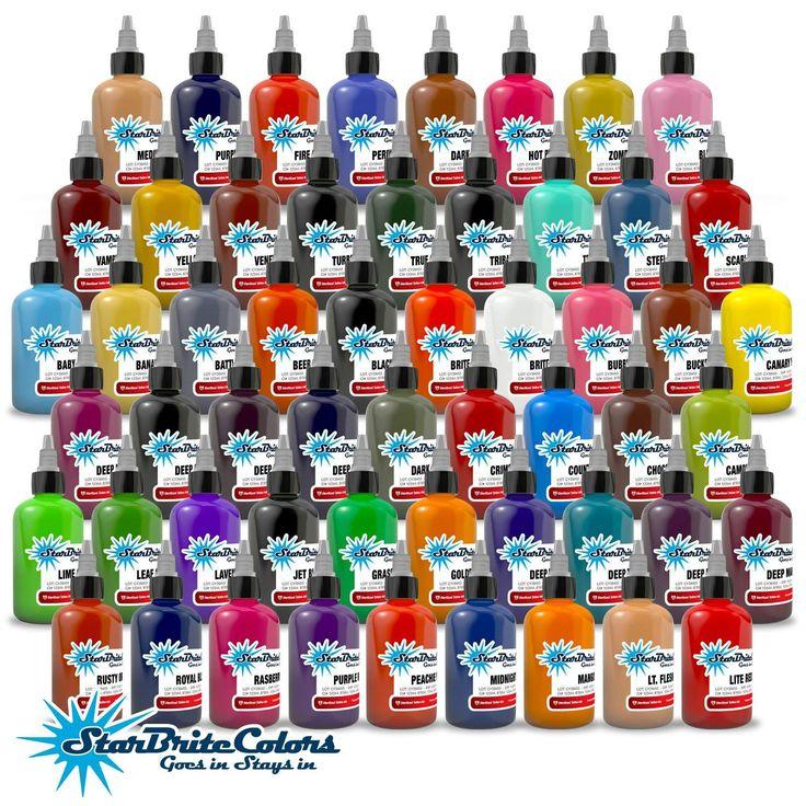 StarBrite Tattoo Ink - 55 Color Set - 1/2 oz