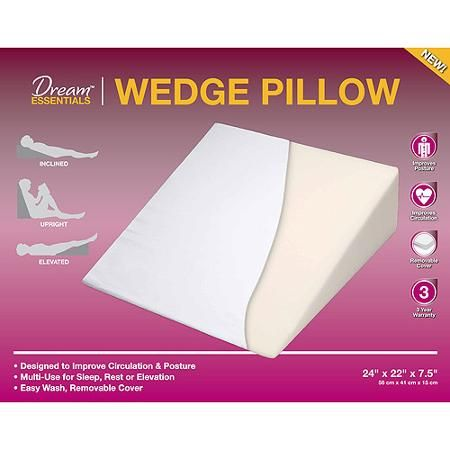 Dream Serenity Wedge Foam Pillow for recovery
