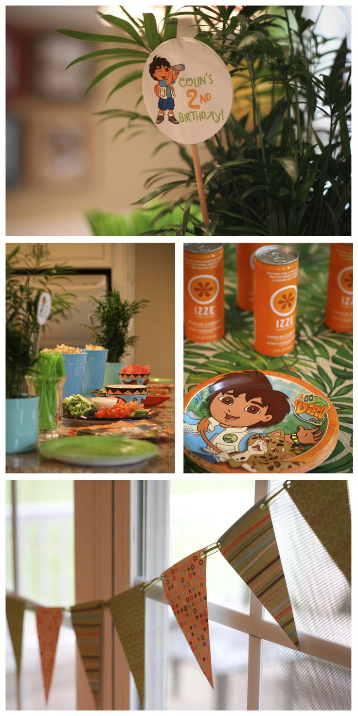 Go Diego Go Birthday Party Invitation & Decor