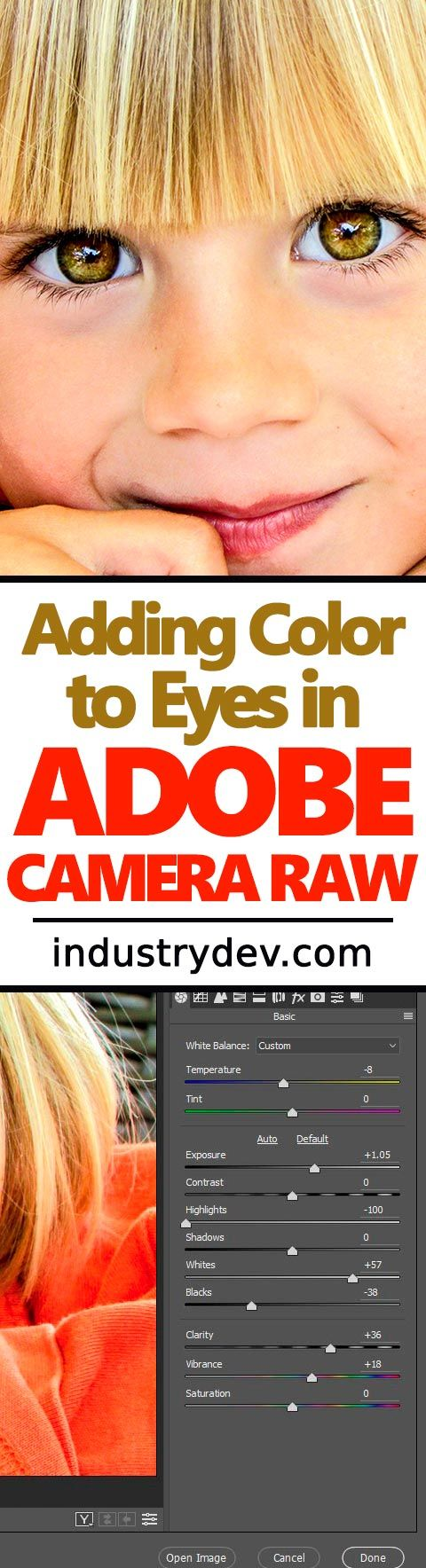 "How to Add Eye Color in Adobe Camera Raw: One of the most important areas to edit when you're working on portraits in Adobe Photoshop and Camera Raw is the eyes. Eyes bring the whole thing home and gets you the ""oohs"" and the ""aahs."" In my latest post, I walk through the process of editing a young model's face in Camera Raw and then adding some color to his eyes. It's a simple process that really doesn't take much time at all, so click through to read the post and learn something new."