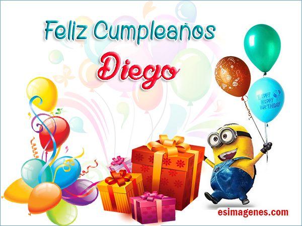 Feliz cumpleaños Diego - Imágenes Tarjetas Postales con Nombres | Feliz Cumpleaños