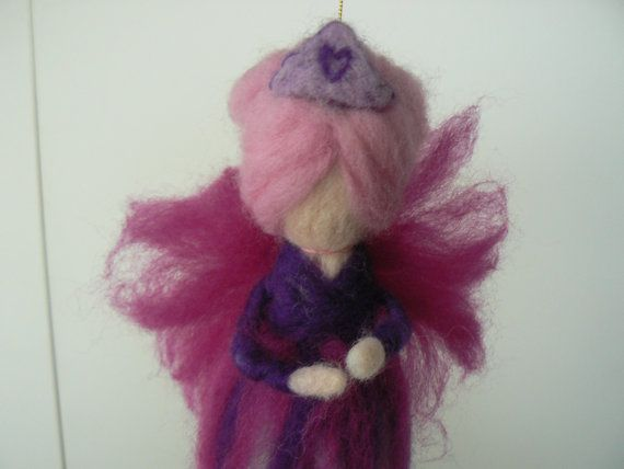 Needle Felted Princess Candyfloss Fairy available at www.etsy.com/lizziedoodlesnz