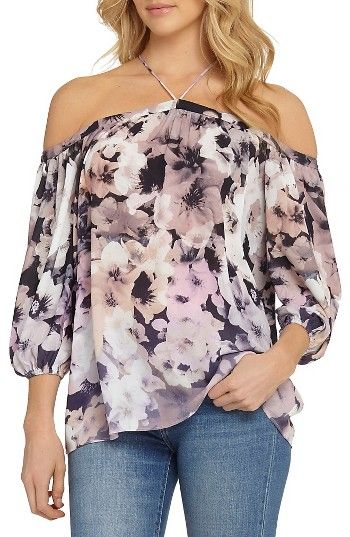 Free shipping and returns on 1.STATE Off the Shoulder Sheer Chiffon Blouse at Nordstrom.com. Exposed shoulders and slender straps accentuate the ladylike feel of this breezy and subtly sheer chiffon blouse.