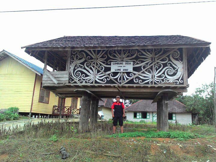 Lumbung suku dayak kenyah di desa Lung Anai - kutai Kartanegara  #jejakbudaya #budaya