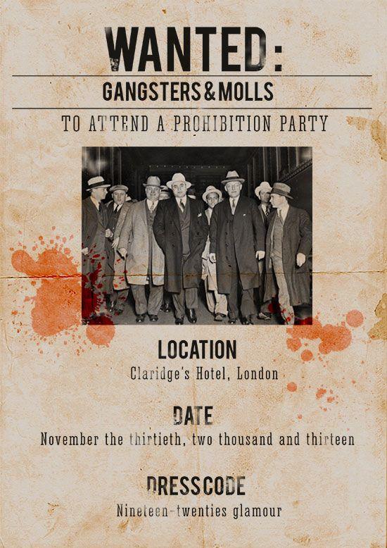 Prohibition Party invitation by Catrina Dyas
