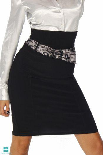 Fusta eleganta, de culoare neagra, cu talie inalta din colectia Fuste scurte de la Cadou pentru Ea http://www.cadoupentruea.ro/produs-9633-fusta-eleganta-de-culoare-neagra-cu-talie-inalta.html