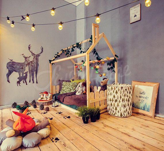 Bett Haus Ist Eine Erstaunliche Kinderzimmer Bett Zum Schlafen Und Spielen.  Dieses Entzückende