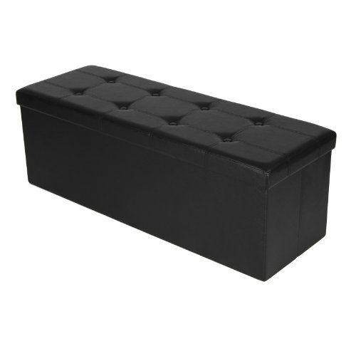 Songmics 110 x 38 x 38 cm Grand Pouf Coffre de Rangement Pliable Chargement max. de 300 kg Noir LSF701: Price:48.99 Est-ce que vous voulez…