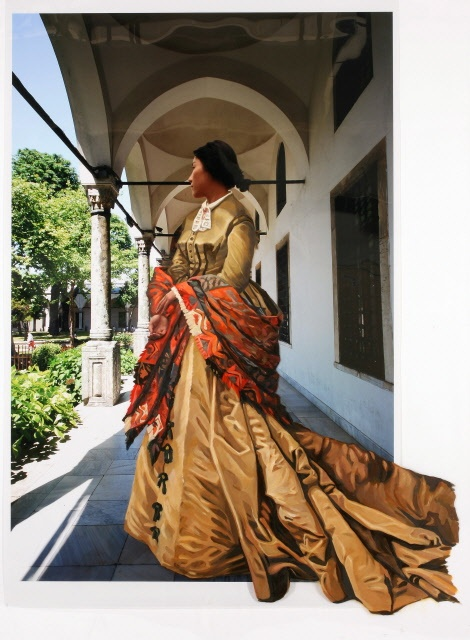 The Costume of Painter - C.Monet 080921  2008  oil on vinyl, vinyl on photograph  210 x 154cm