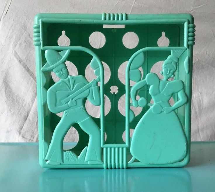 Vintage Midcentury Lustro Ware Turquoise Wall Mounted Napkin Holder | eBay