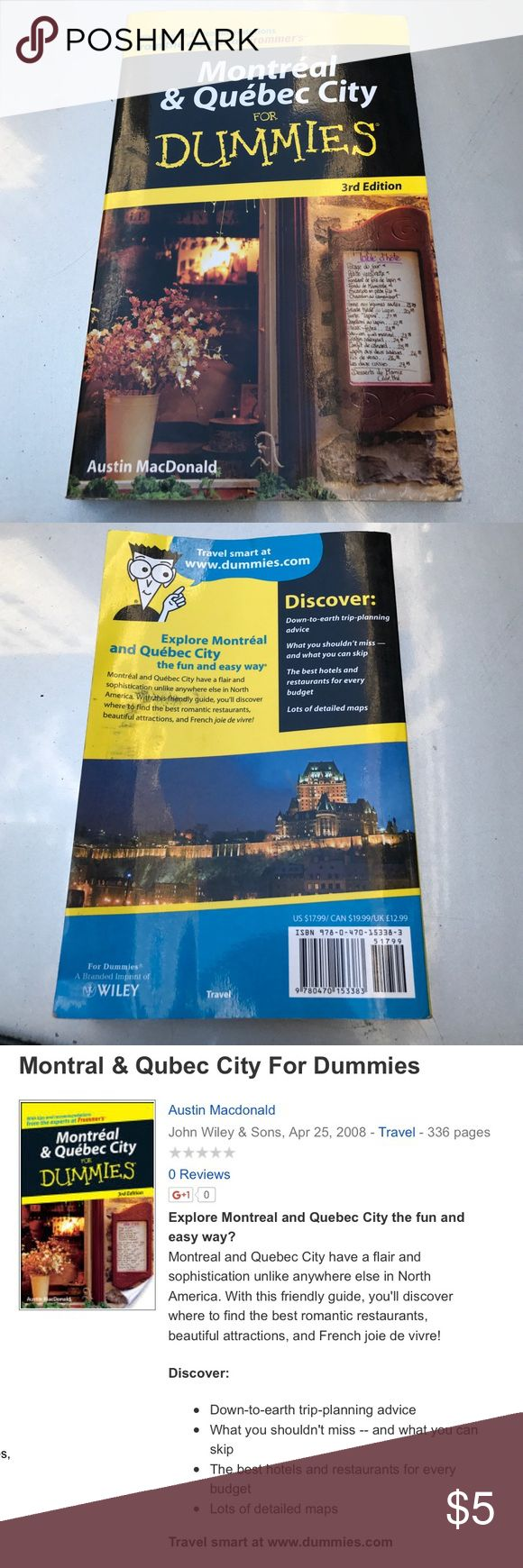 Montreal u0026Quebec City for Dummies Used pages show