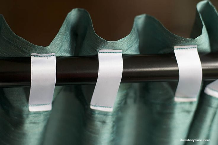 DIY ribbon tab curtains