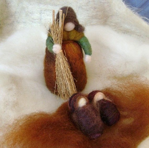 Inspiration - Wool Felting  - Mother Earth and the Babies  - Softearth. $30.00, via Etsy.
