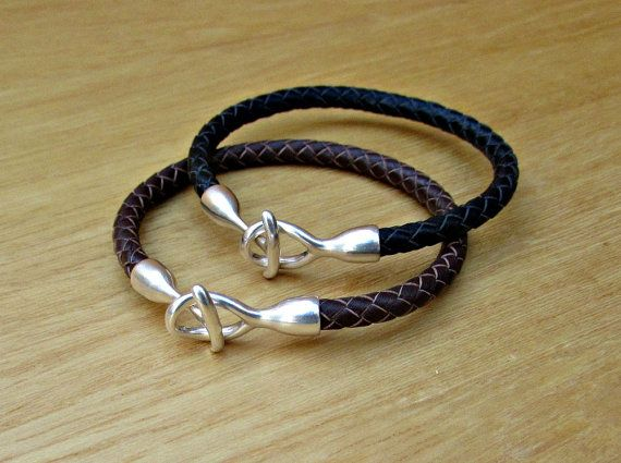 2x Couples Bracelets Matching Bracelets Leather Cuff by GUSFREE