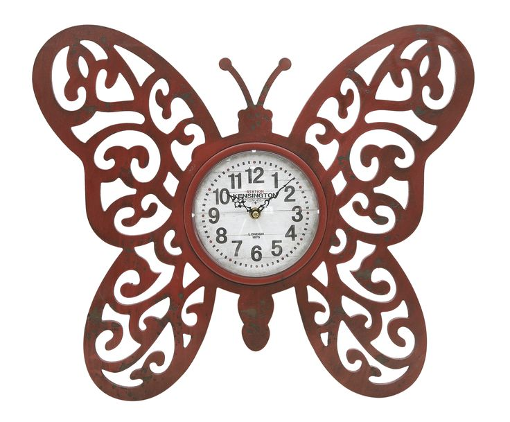 Red Butterfly Clock.