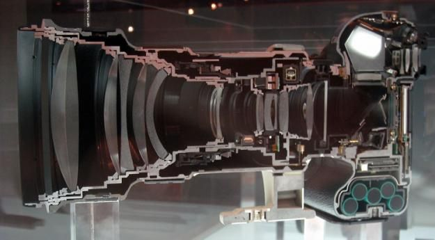What Does a Canon 1Ds with 400mm Lens Look Like Cut in Half? About $14000 worth of hurt is what it looks like.