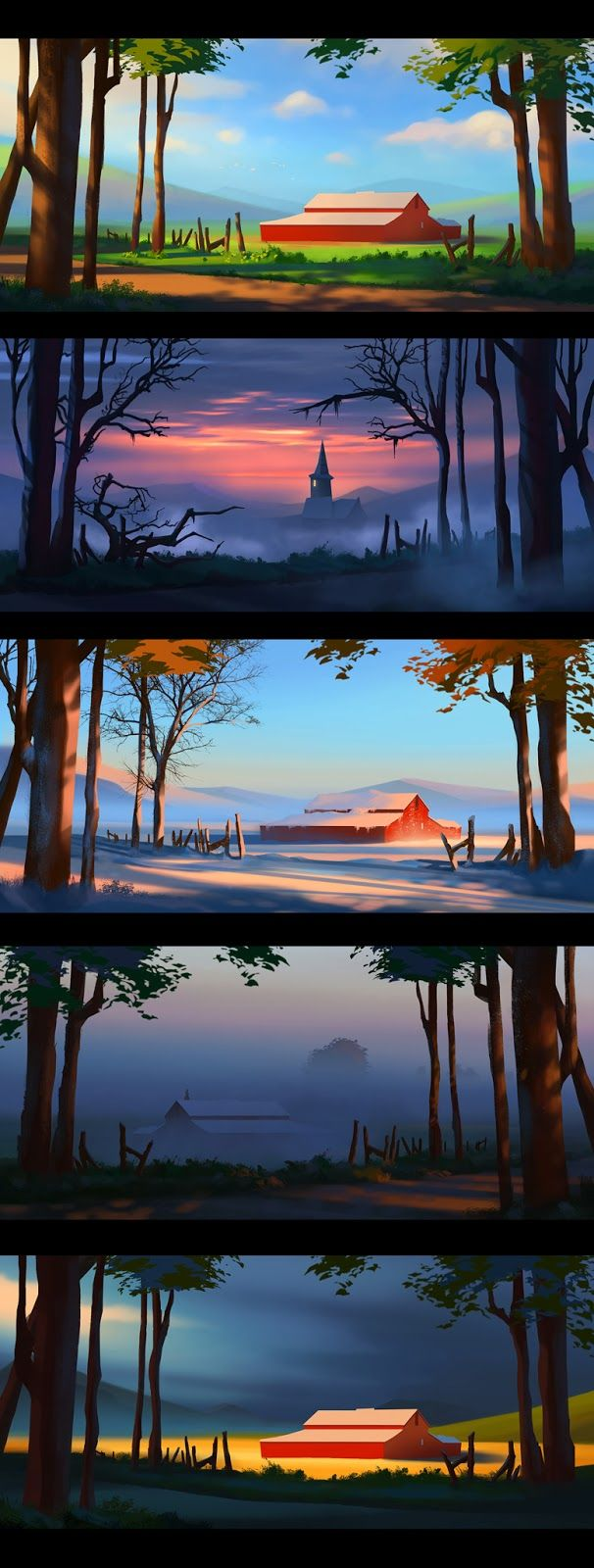 Art of AnthonyE: More Color Studies