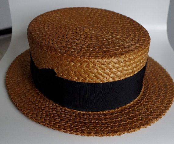Stetson Straw Hat 1920s by Bintiji on Etsy