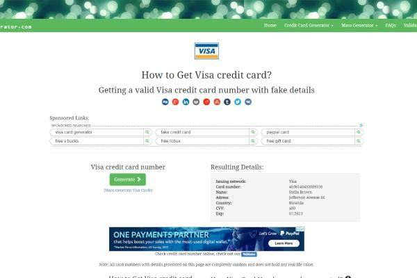 Free Credit Card Generator With Money in 6  Free credit card