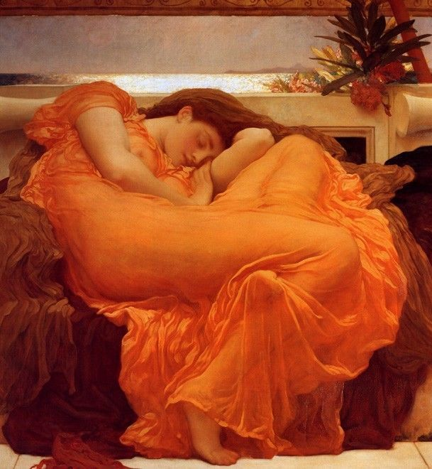 FLAMING JUNE BY LORD LEIGHTON ON CANVAS
