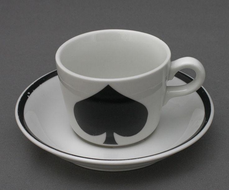 Arabia, kahvikuppi, pelikortti