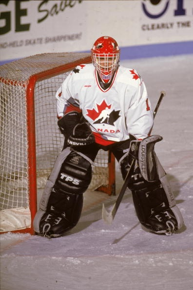 Team Canada World Juniors - Jose Theodore (age 19) at the 1996 WJC