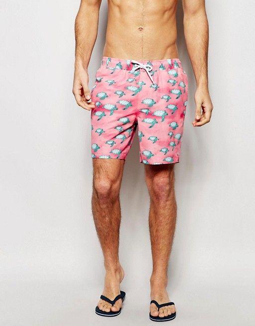 ASOS | Shorts de baño a media pierna con estampado de tortugas de ASOS