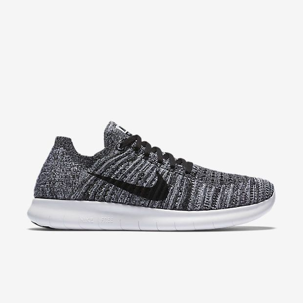 finest selection 276a1 740a7 ... Nike Free RN Flyknit Womens Running Shoes 8.5 White Black 831070 100  Oreo Nike ...