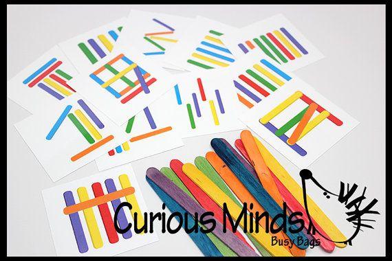 Dies ist eine Gehirn-Training. Kinder müssen dem Muster auf den Karten mit farbigen Popsicle Sticks entsprechen. Die Tasche kommt mit 10 beidseitig kaschierte Muster Karten professionell gedruckt auf Karton. Jede Karte ist drehbar in alle 4 Richtungen für zusätzliche Rätsel, also diese Tasche 80 unterschiedliche Herausforderungen beinhaltet! Eine Seite der Karten haben einfacher (single Layer) Rätsel, die Gegenseite hat mehr knifflige Rätsel mit Stöcken überlappen, so dass Kinder brauchen…