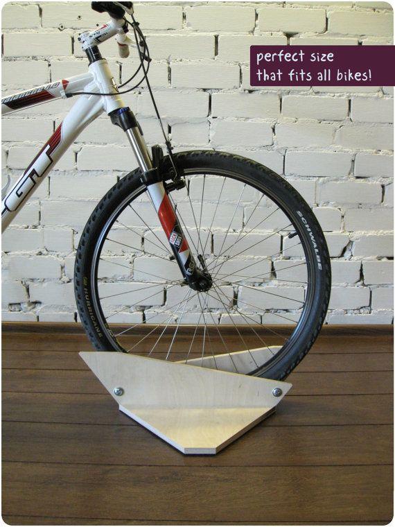 Bike holder, Bicycle stand, Bike rack, wooden bike accessories