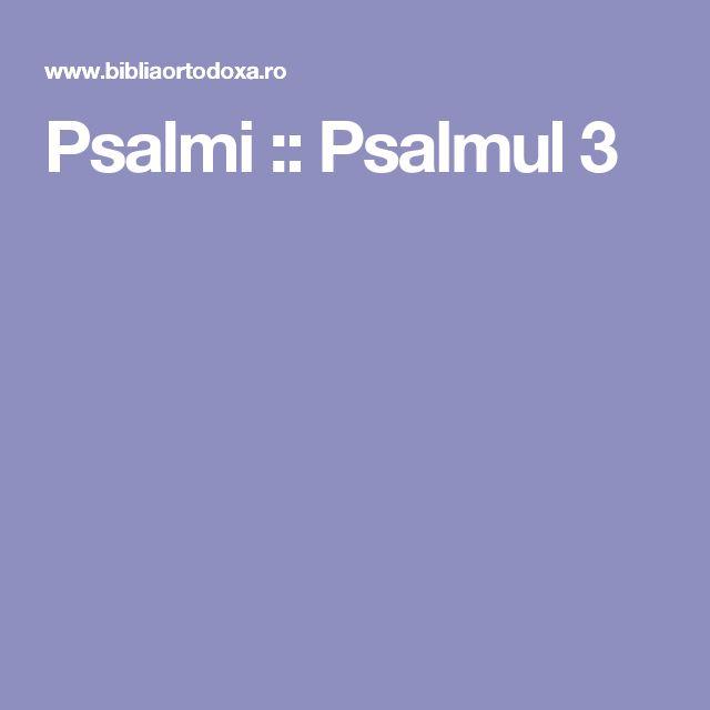 Psalmi :: Psalmul 3