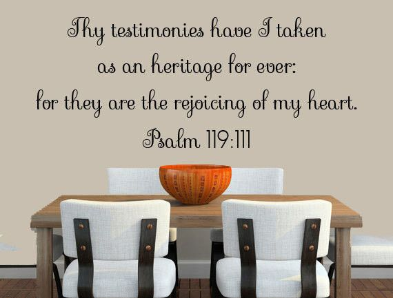 Bible Verse Wall Decal Psalms 119 11 Scripture Wall